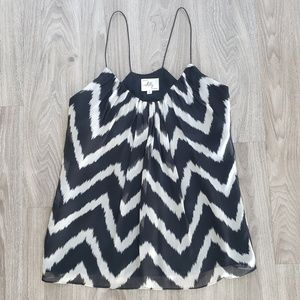 Milly Black/White Chevron Tank Top